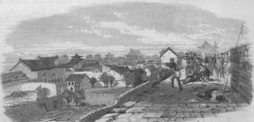 1862 CHINA Lt The capture of Ningbo Lt Cornewall Davis Storming party