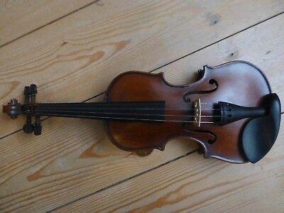 Geige Kinder 1//8 Brasilbogen Steg /& Saiten MADE IN GERMANY 1//32 Violine