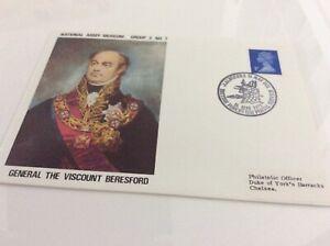 Commemorative Cover Général Le Vicomte Beresford Nam Groupe 3 #7 16/5/71-afficher Le Titre D'origine