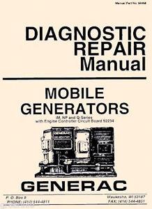 Details about GENERAC AC Generator NP IM MC OHVI Engine SERVICE MANUAL &  Owner 100 MANUALS CD