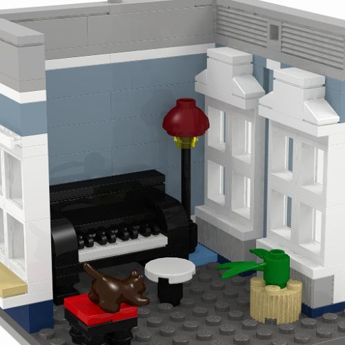 INSTRUCTIONS ONLY!!! LEGO Custom Blue Residence