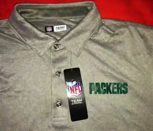 NWT GREEN BAY PACKERS NFL MEN'S XL SHORT SLEEVE STRETCHABLE POLO SHIRT - $75