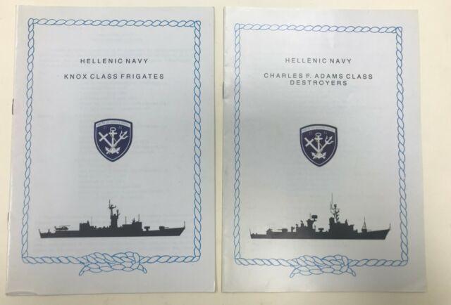 Greece Hellenic Navy Set 2 Ships Booklets (Knox Class Frigates/Charles F. Adams)