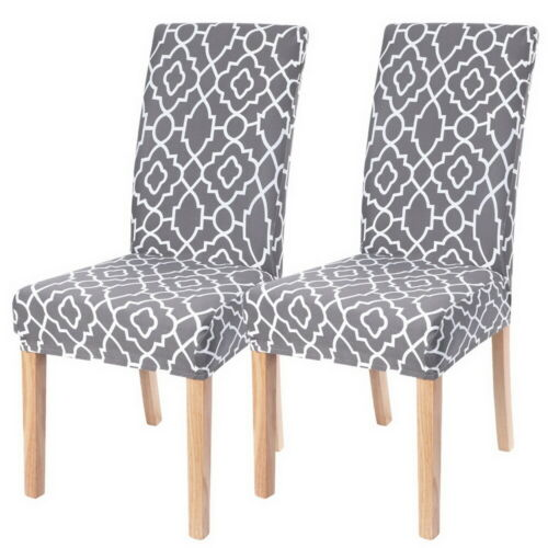Elastic 4//6 Dining Chair Covers Seat Slipcovers Kitchen Chair Protective Covers!