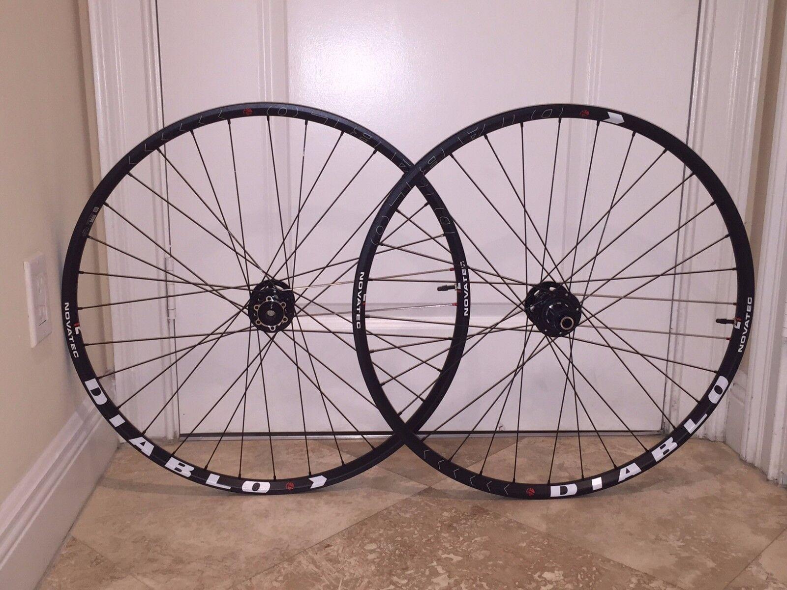 New Novatec  Diablo 27.5  Rim MTB Wheelset  save up to 50%