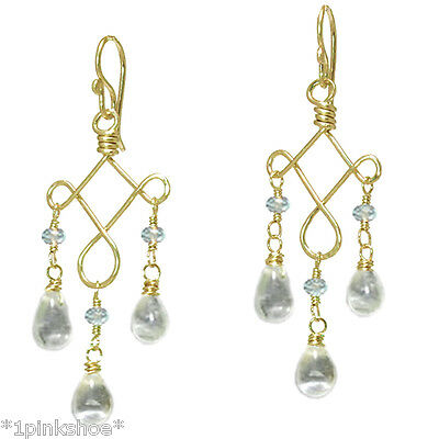 Galapagos 78 ~Tanzanite Dangling Earrings with Metal Choice