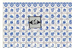 Delft Dutch Wall Tile Sheet  34439 dollhouse 1pc World /& Model 1//12 scale