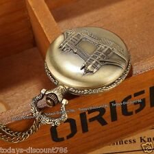 Xmas Gift For Him London Bridge Pocket Watch Necklace Father Dad Son Husband Men