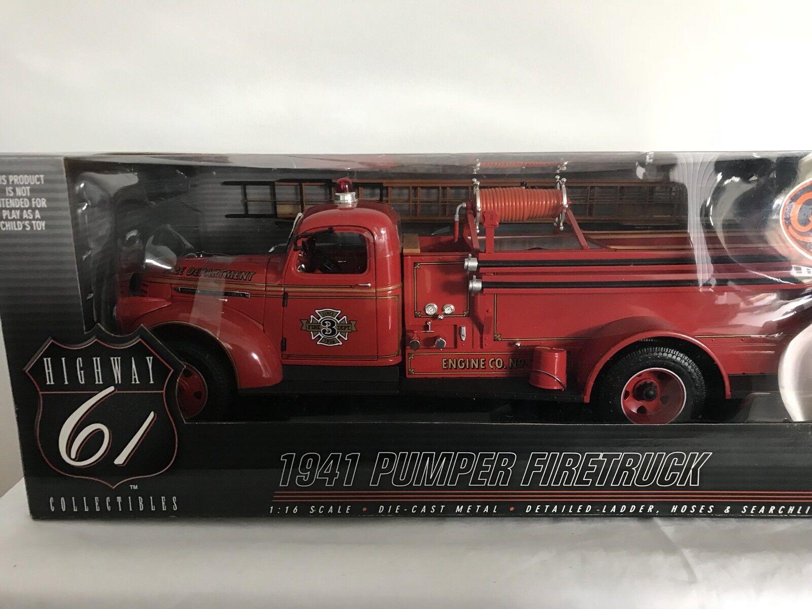 Highway 61 50185 CHEVY Camion dei Pompieri 1/16 Nuovo di zecca & BOXED RARE