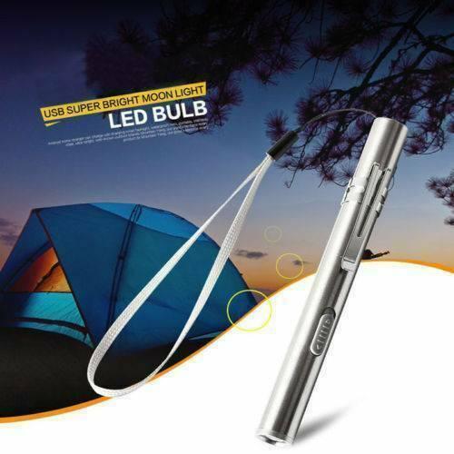 8000LM Mini LED Penlight Pocket Light Portable Flashlight USB Rechargeable Torch