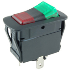 Nte 54 241w On Off On Lighted Rocer 20a Spdt Redgreen 12v Led Waterproof Switch