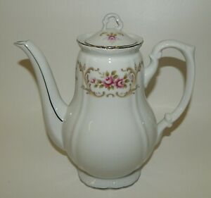 Vintage Style House Fine China Rose Baroque Coffee or Tea Pot MIJ