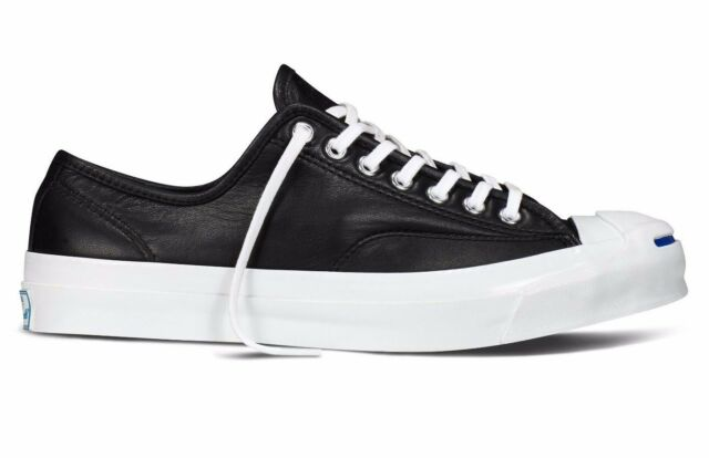 cb79b92a1264 NIB  125 Converse Jack Purcell Signature Ox Leather Black 149910C US Mens  10.5
