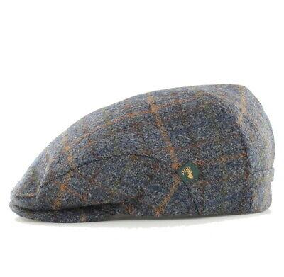 Quilted Lining Trinity-92 Mucros Weavers Wool Tweed Hat Brown Wool Flat Cap
