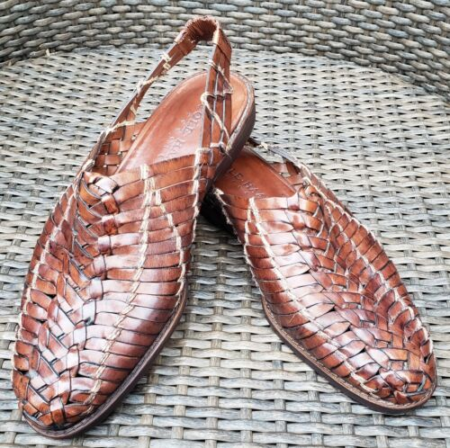 Cole Haan Resort Huarache Woven Leather Slingback