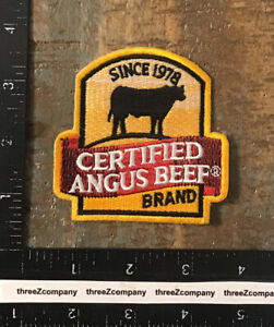 Vintage Certified Angus Beef Brand Logo Patch Meat Cow