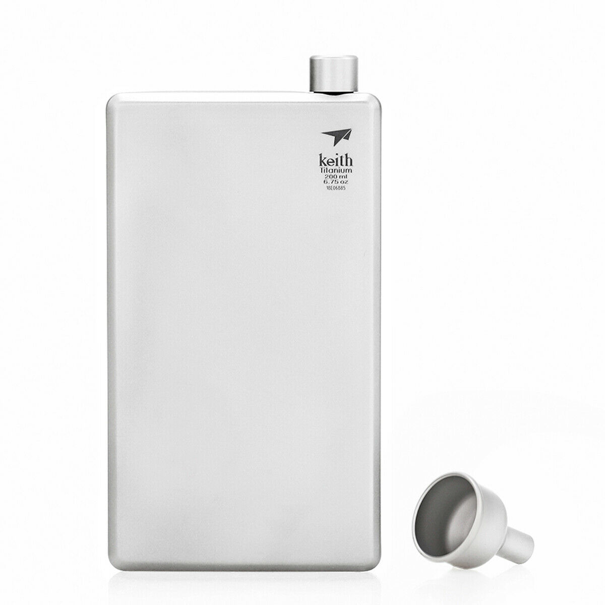 Keith Titanium Hip Flask Whiskey Alcohol Wine Bottle with Funnel Groomsmen Gift