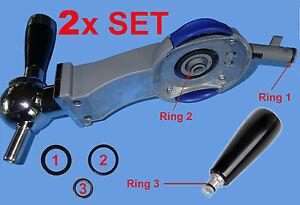 2-SETs-6-O-Ringe-Dichtungen-Philips-Perfect-Draft-Zapfanlage-HD3600-3610-3620