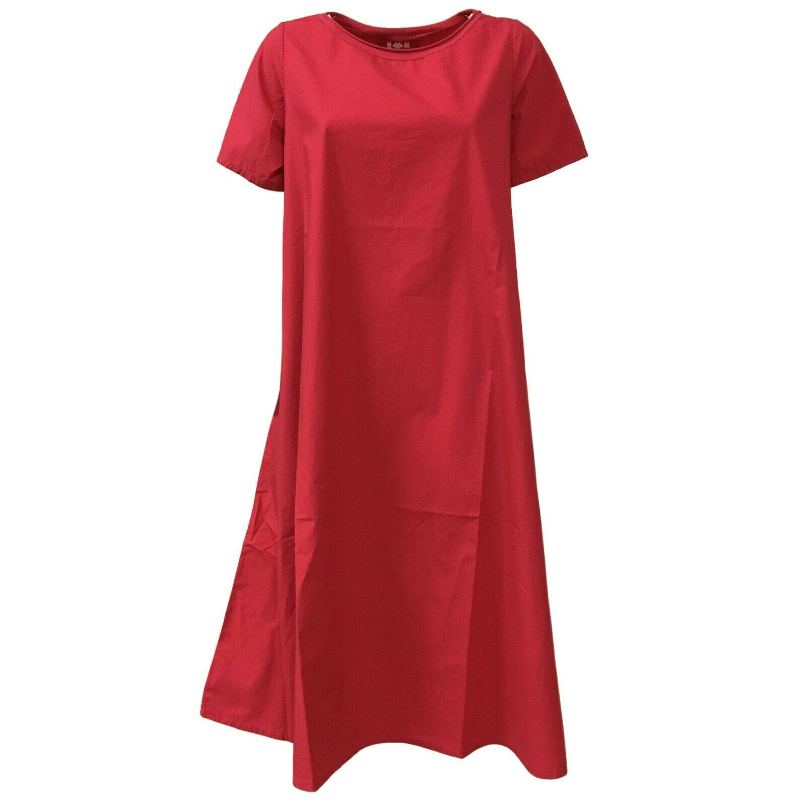 LABO.ART women's dress bouganville mod ABITO2 CLARA 100% cotton MADE IN ITALY