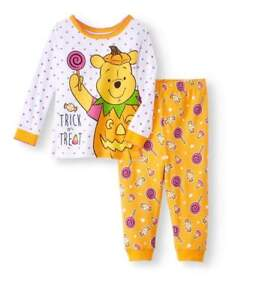 72cfd5f4b418 DISNEY WINNIE THE POOH BABY HALLOWEEN PAJAMAS SIZE 9 12 18 24 MONTHS ...