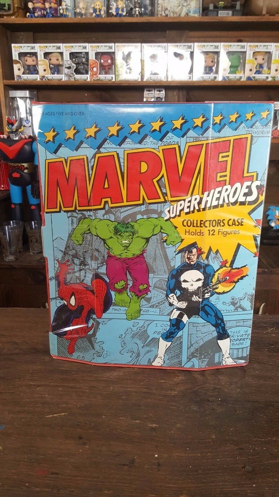 Marvel Superheroes Collector's Case Toybiz 1991 Rare Great Shape Action Figure
