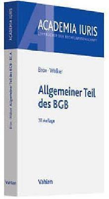 Allgemeiner Teil des BGB von Brox, Hans