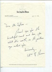 William-F-Thomas-Los-Angeles-Times-Editor-Signed-Autograph-TSL