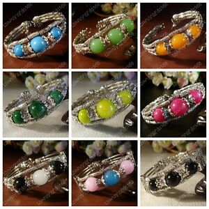 New-in-Tibet-style-Tibetan-silver-charming-beads-bracelet-bangle-12-color