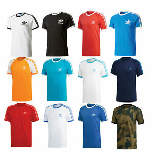 Details zu adidas Originals California 3 Stripes Tee Herren Shirt T Shirt Oberteil Kurzarm