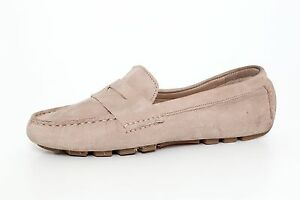 360aedb7e03 Cole Haan Women s Air Sadie Driver Penny Loafers Suede Leather 7644 ...
