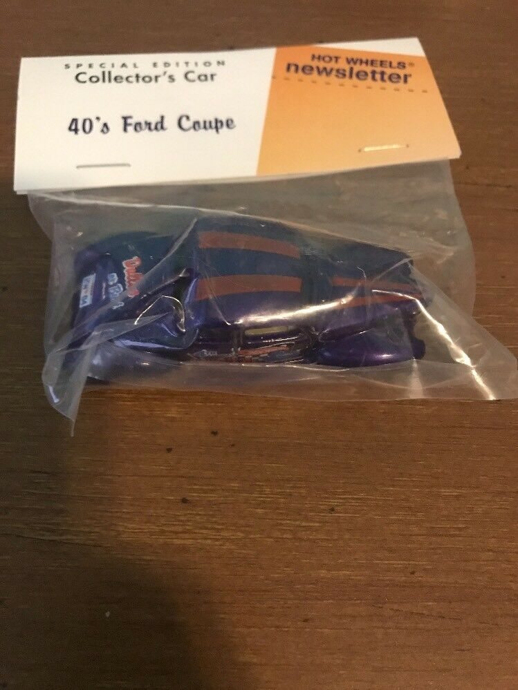 Hot Wheels Newsletter 4th Annual Convention 40 Ford Coupe Collectors Car violet
