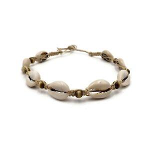Fashion-Cowrie-Shell-Choker-Tiger-Eye-Beads-Hemp-Necklace-Choker-Boho-Jewelry