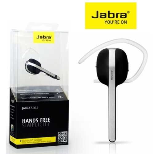 1 of 1 - Bluetooth Headset 4.0 JABRA Style Wireless Headphone Stereo Headset Smart Phone