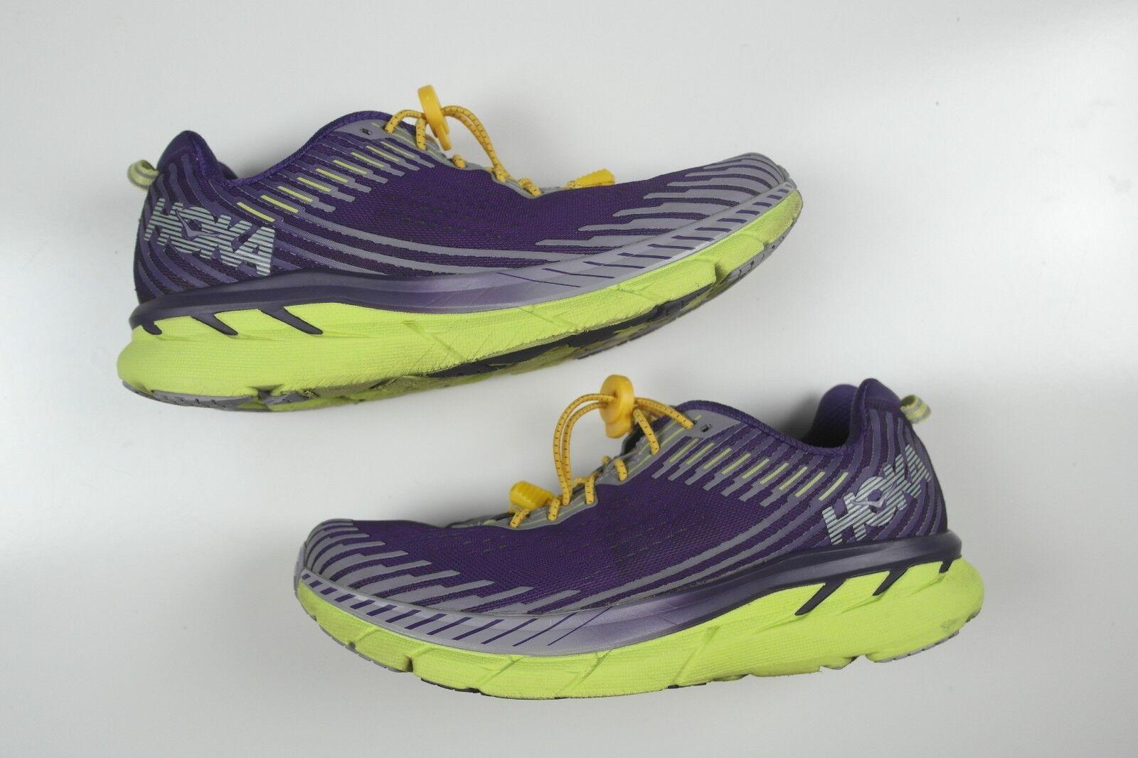 HOKA Femme Clifton 5 5 5 Chaussures De Course Taille 9.5 violet raisin Royale  livraison gratuite!