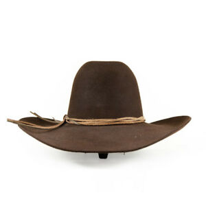 Stetson Cowboy Hat 6X Beaver Fur Chocolate GUS With Free Hat Brush+ ... 094518cf6d1