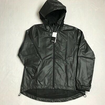 Adidas Linear Windbreaker Black Full Zip Logo Hooded Jacket