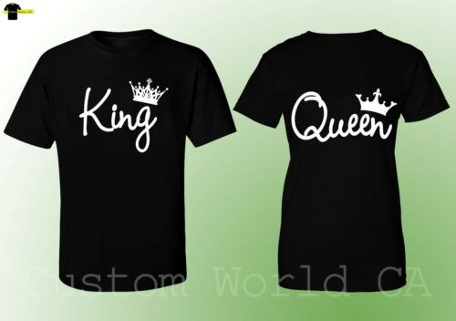 His and Hers New Design Tees King And Queen Couple Matching Love T-Shirts