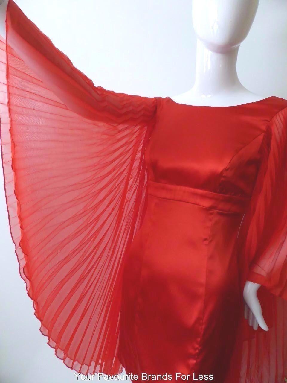 GUESS AV MARCIANO Woherrar kort Dress NWT rrp  499 Storlek små Long Slieve Silk