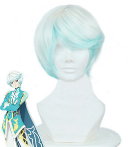 Tales-of-Zestiria-The-X-Mikleo-Cosplay-Short-White-And-Blue-Ombre-Hair-Wig