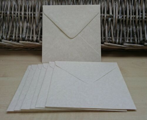 100 Parchment envelopes 130mm sq invites wedding mailing notelets banker flap