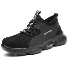 Mens Steel Toe Running Work Safety Shoes Construction Sports Sneakers Esd Boots