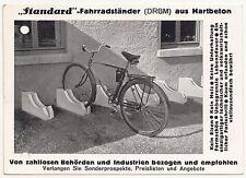 Reklame Postkarte Standard Fahrrad Ständer 1940 Betonwerke Hennig Oranienbaum
