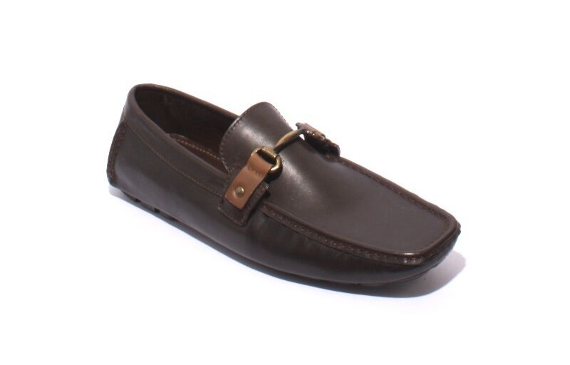ROBERTO SERPENTINI 1003c Brown Leather Driver Moccasins Loafers 43 / US 10