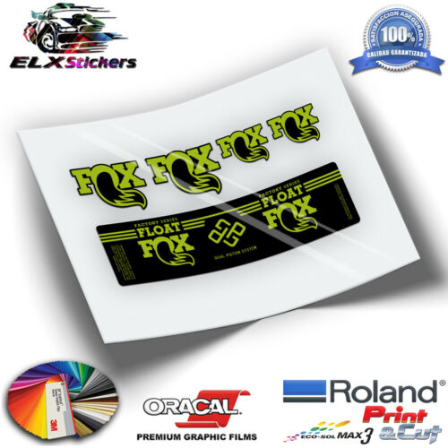 FOX FLOAT FACTORY SERIES DUAL PISTON SYSTEM WP193 SHOCK ABSORBER FLUOR STICKERS