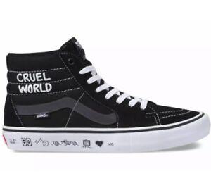 ce3b795a2b Vans SK8-Hi PRO Cult Black White Cruel World Suede VN000VHGUHU Men s ...
