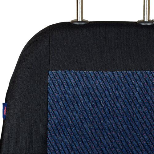 Schwarz-blaue Sitzbezüge für PEUGEOT 206 Autositzbezug NUR FAHRERSITZ