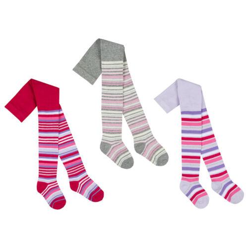 BABY GIRLS TIGHTS TICK TOCK STRIPE DESIGN 0-24 MONTHS COTTON RICH PINK 1//3 PAIR