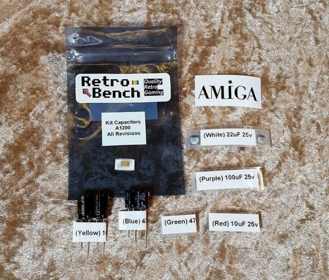 AMIGA 1200 A1200 COMMODORE Recapping Capacitor Kit - HIGH Quality PANASONIC CAPS