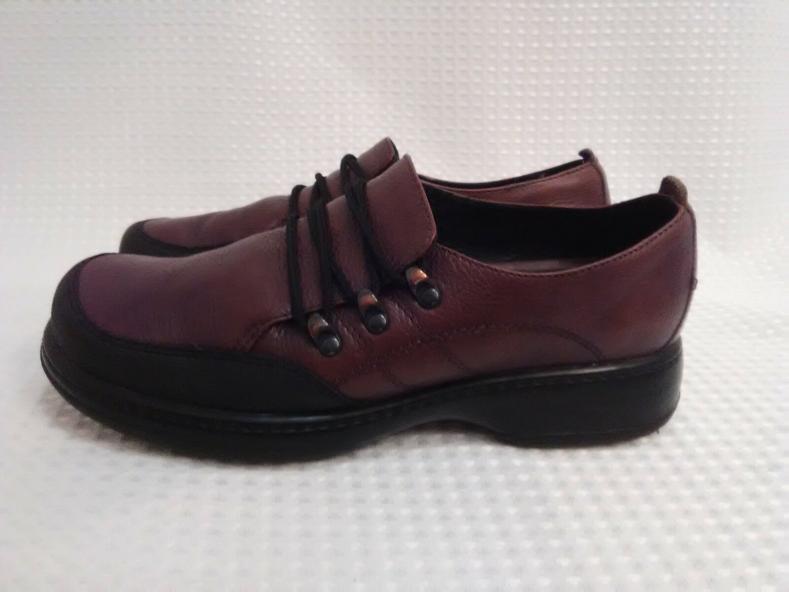 Dansko 40 Janika Brown Black Leather Oxfords shoes Made In Mgoldcco Womens 9.5-10