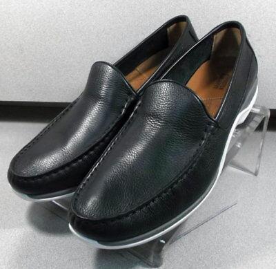 200592 WT38 Men/'s Shoes 12 M Black Leather Slip On Johnston /& Murphy Walk Test